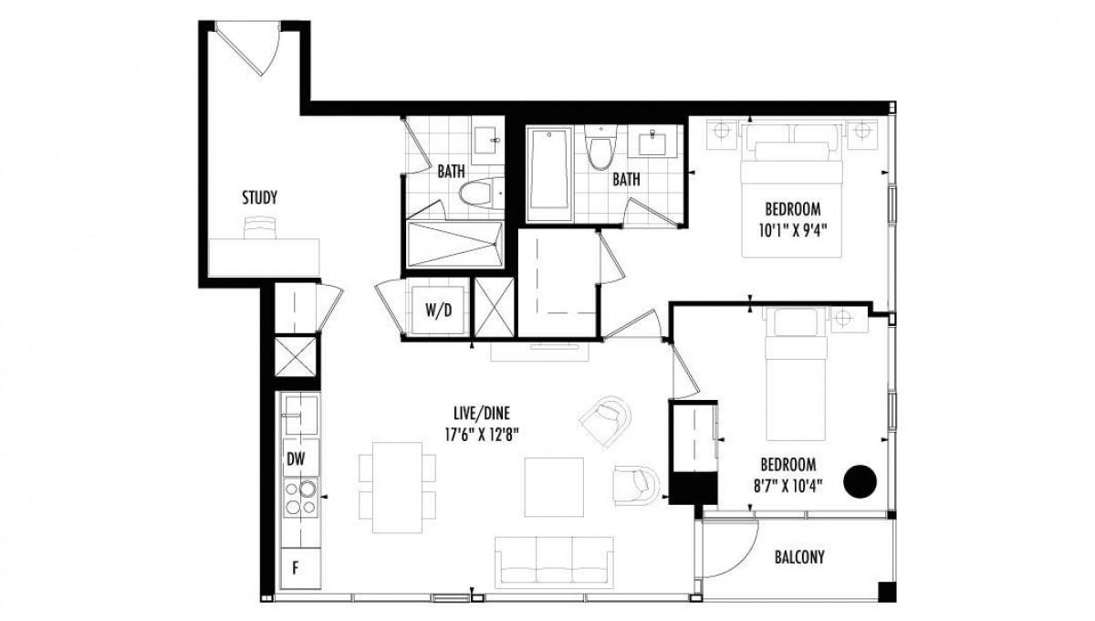 2 Bedroom Toronto Ontario Fernbrook Homes