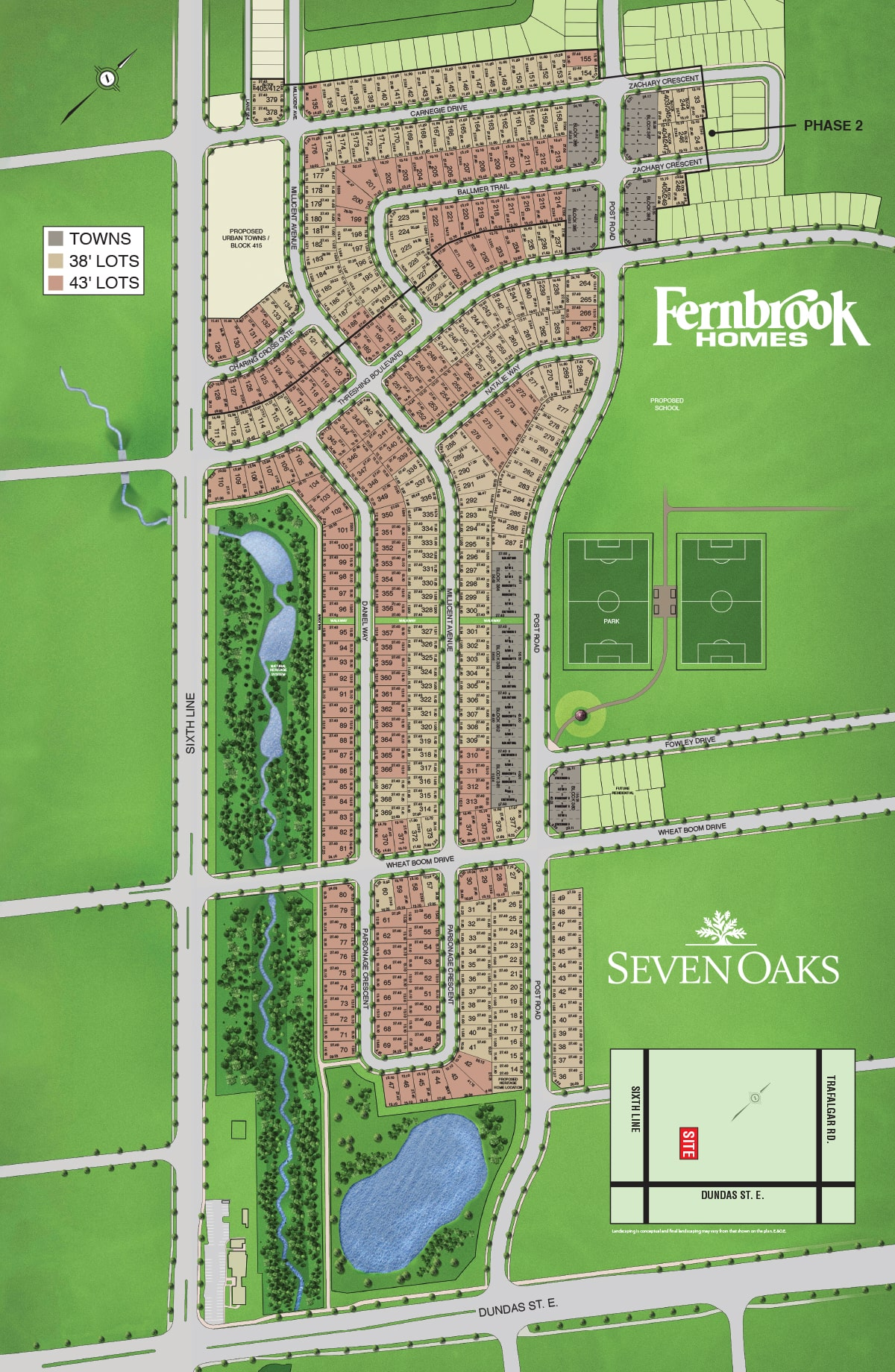 Seven Oaks Site Plan