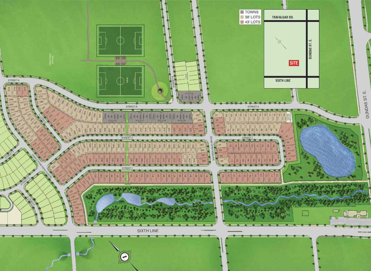 Site plan fernbrook homes for On site home builders