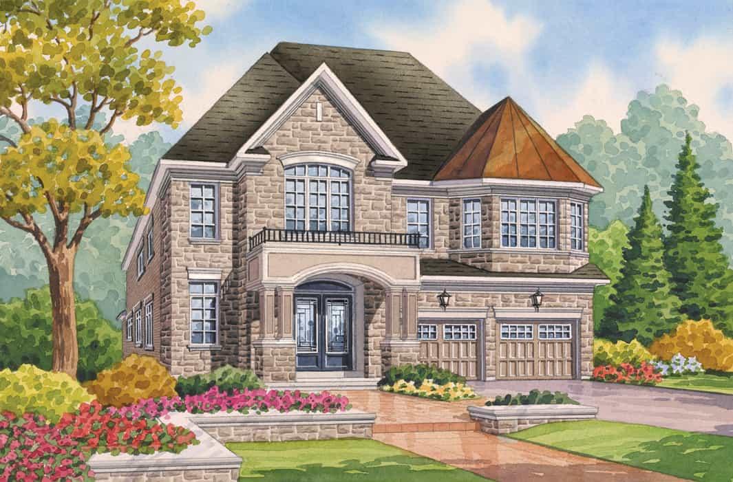 Front Elevation Homes : Rockefeller oakville ontario fernbrook homes
