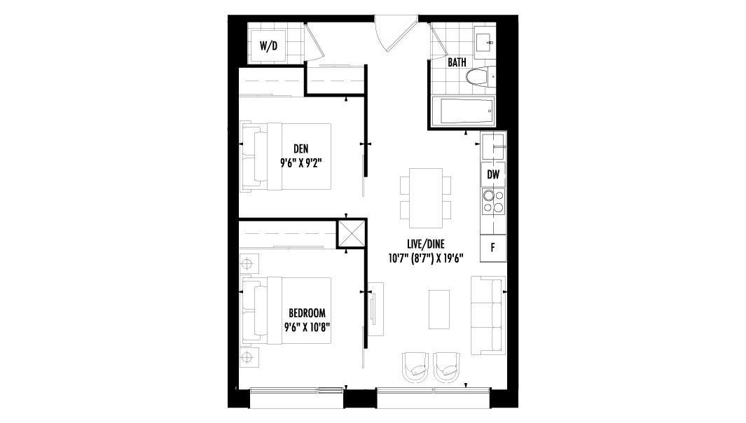 1 Bedroom + Den