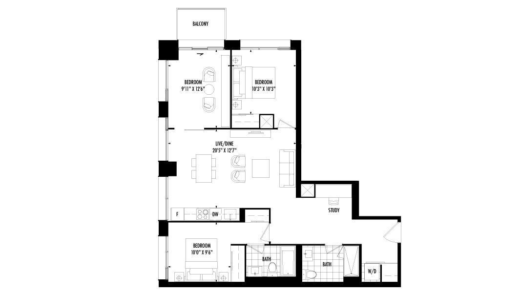3 Bedroom + Den